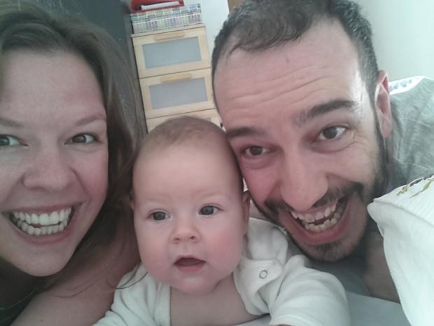 Juliane, Eva und Edu zum Beginn der Reise