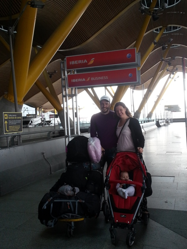 Am Flughafen in Madrid