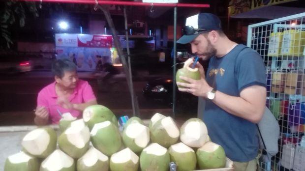 Kokosnuss zum Tagesabschluss