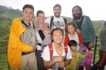 Mit unseren Gastgebern des Guest House Westwood Highlands und Freunden aus Japan