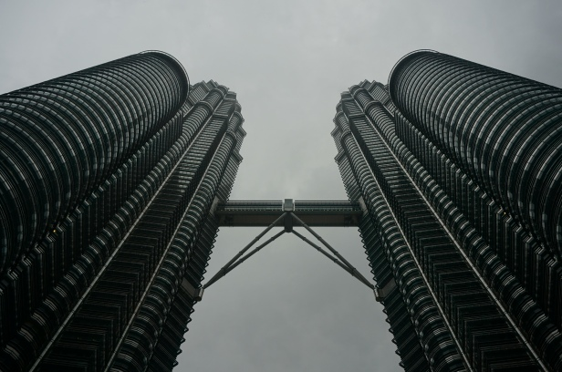 Petrona Towers im Regen