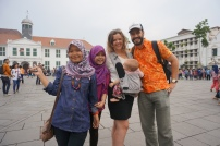 Wie die Superstars in Jakartas Altstadt