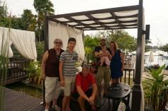 Weihnachtsessen mit Jacky und ihrer Familie