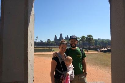 Angkor Wat im Hintergrund
